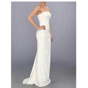 Nicole Miller Bridal Silk Strapless Wedding Dress